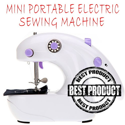 [HOT SALEEE !!!] mesin jahit Mini Portable Electric Sewing Machine Desktop Battery Operated Sartoriu