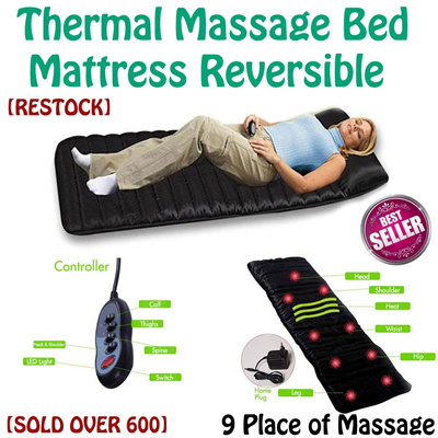 [ITEM RESTOCK]-Thermal Massage Bed Mattress* Home Remedy Medical Instrument* Full Body Massager with 9 Different Massaging Points*