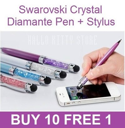 BEST CHRISTMAS BIRTHDAY GIFT. BUY 10 FREE 1. BEST REVIEWED n QUALITY 2in1 Swarovski Crystal Bling Blink Diamond Diamante Pen Touch Screen Stylus : FAST SHIPPING/LOCAL SELLER~BEST QUALITY