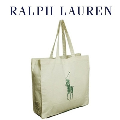 POLO RALPH LAUREN BIG PONY ECO-FRIENDLY TOTE BAG 100% ORGANIC COTTON