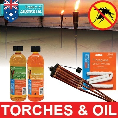 [OFFER BUY 1 GET 1][KILL PEST] RESORT TORCH*OIL TO EXPEL MOSQUITOES WITH LEMONGRASS SMELL/FIBREGLASS WICKS*Natural/non toxic!