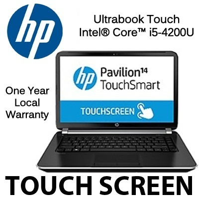 [Ultra Touch] HP PAVILION TouchSmart 14-N033TX (Touch Screen) - 4th generation Intel® Core™ i5-4200U 1 year warranty