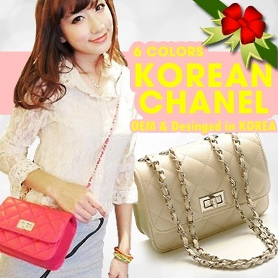 ★Korean CH☆NEL st SHOULDER BAG★6 Colors/OEM n Designed in KOREA