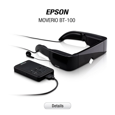[2013 PC Show][HMD] EPSON MOVERIO BT-100 [3D STANDALONE THEATER]