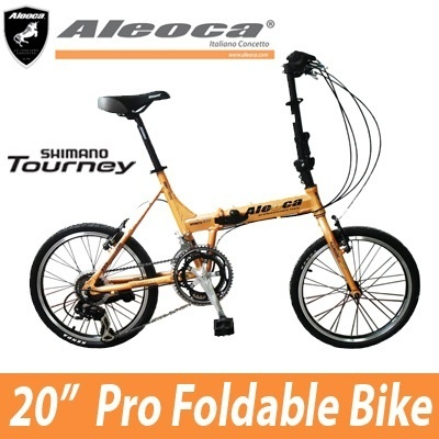 [Aleoca] 20inch Alloy Folding Bike - Rosrath XTF -Shimano Tourney 12-speed grip shift gear system-