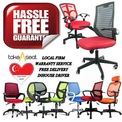 High Office Chair at Good price (Singapore seller) Choose self setup and save more!