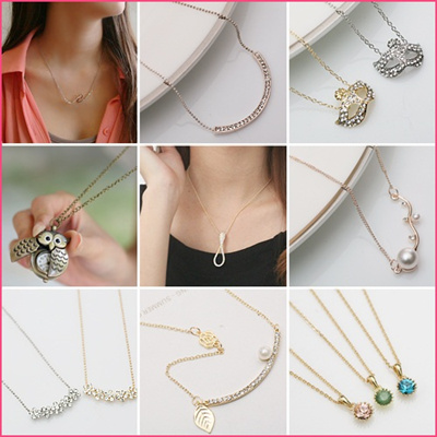 Style Necklaces / 18K Gold Plate/ No allergy/ earring/
