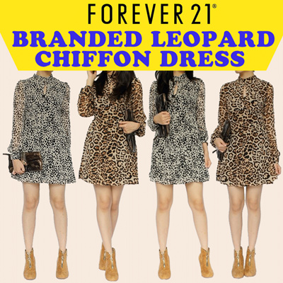 TURUN HARGA!! - Branded Leopard Tee / Chiffon Dress / Flower Casual Dress / Cocktail Dress / Long Sleeve / Tank Top
