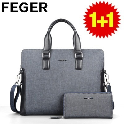 【Feger】Buy 1 get 1 free!New arrivals men's handbag/ High quality male's wallet / Business and formal bags/ Large capacity/ Classical and fashionable