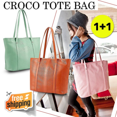 CROCODILE SKIN TOTE BAG 6 COLOUR
