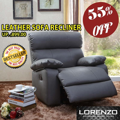LORENZO LEATHERPLUS SOFA RECLINER SPECIAL OFFER!!! LIMITED STOCKS!!!