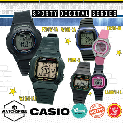 [CHEAPEST PRICE IN SPORE] *CASIO GENUINE* SPORTY DIGITAL WATCHES! Free Shipping and 1 year warranty!