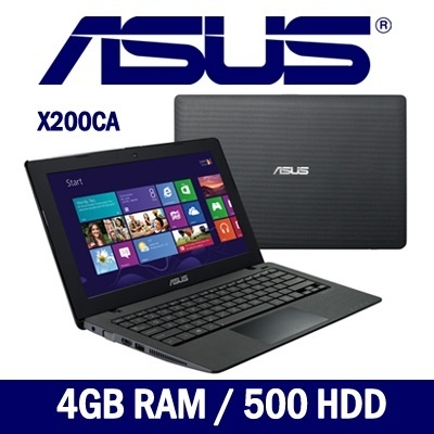 [SUPER OFFER] ASUS X200CA 11.6inch Intel Celeron 1007U Laptop/NOTEBOOK COMPUTER 4GB RAM / 500GB HDD /Windows 8)- BEST PRICE!