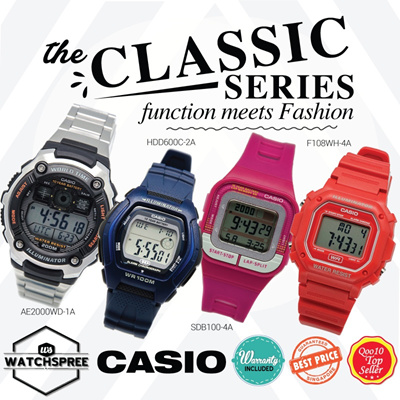 [CHEAPEST PRICE IN SPORE] *CASIO GENUINE* CLASSIC SERIES WATCHES! Free Shipping and 1 year warranty!