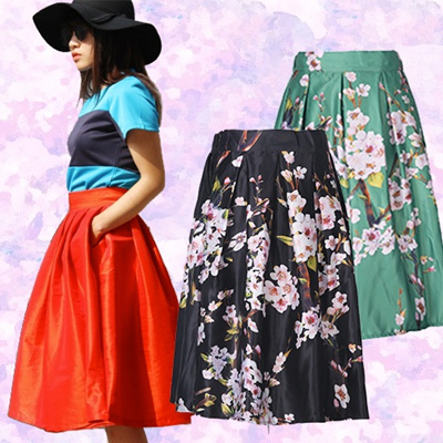 Basic Essentials ★ Midi Skirts ~ Many designs! Lace / flare / chiffon midi skirt