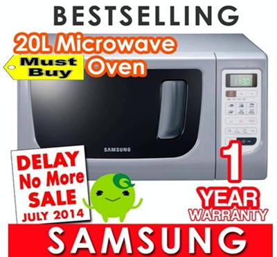[TIME SALE] Samsung Microwave Oven. 20 Litres. 800 Watts Power. Cook and heat your delicious food for your best enjoyment. Limited Stocks. Only 10 Pcs.