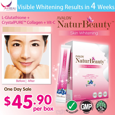 [One Day Sale! FREE Gift Worth $16! UP $68.90] Clinically Proven! AVALON™ NaturBeauty™ Skin Whitening ✩ Visible Whitening results in 4 Weeks! ✩ L-Glutathione + Collagen + Vit C