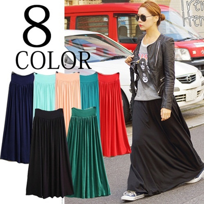2014 new long maxi skirt 10 colours women fashion skirt