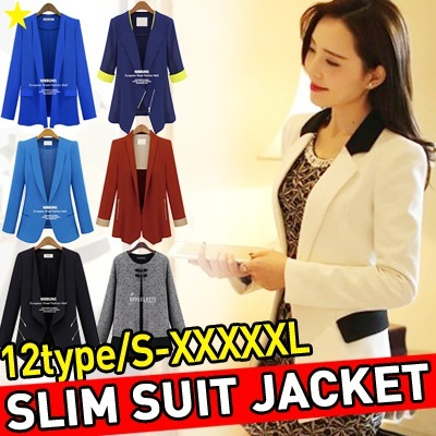 ★Slim Suit Jacket 12types S-XXXXXL★ Korean and Japanese Trend Fashion / Couple / SWEATERS KNITWEAR BLAZER JACKET OFFICE OUTER WEAR /Ladies Casual Jackets / Hoodie / unisex