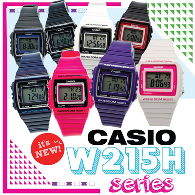 [CHEAPEST PRICE IN SPORE] *CASIO GENUINE* W215H SERIES WATCHES! Christmas Sale! Free Shipping and 1 year warranty!