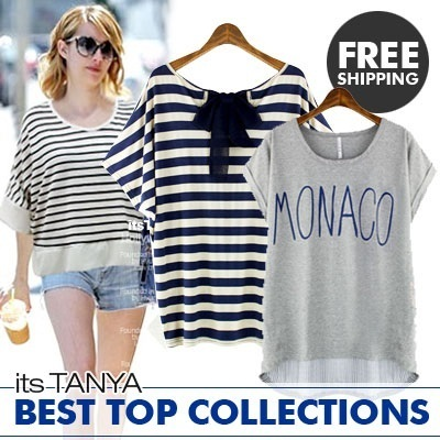★FREE SHIPPING★itstanya★New arrival/Best-t-shirt/Loose Fit box/Korea fashion/women fashion/korean drama/etc