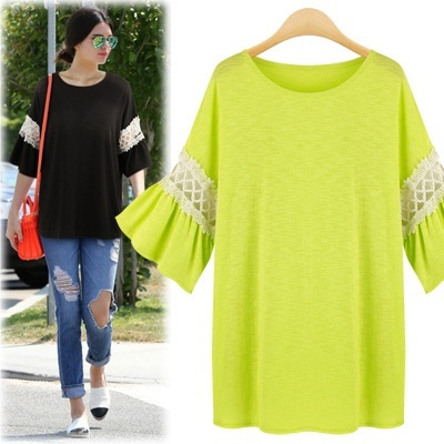 [Free-Shipping New Arrivals T-shirt 8kinds] Frill sleeve/loose-fit/women fashion women clothing winter