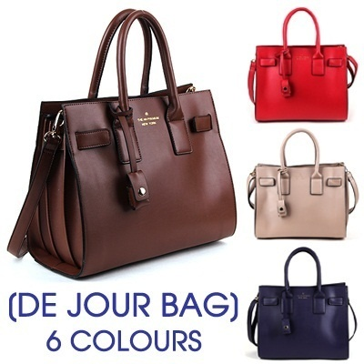 ★Full-color stock★2014 Korea New Arrivals ★De Jour Bag★Multi ShoulderToteCross Bag★ Soft-Touch Feel Classic Design Handbag