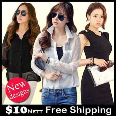 【16/8 Update】Flat Price Sales 2014 New Style Korean Summer Spring Fashion Dress Cardigan Blouse Lace Top