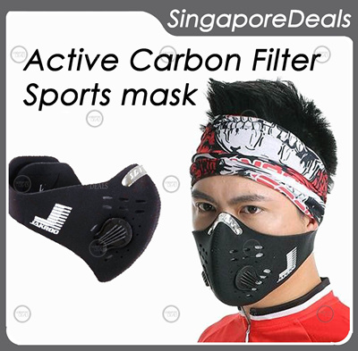 JAKROO (nt RESPRO) Sports Mask with N99 Active Carbon Filter easy breathing technology bicycle