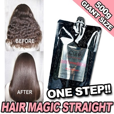 ★CURE ONE STEP MAGIC STRAIGHT★CURE PROFESSIONAL One Step Magic Straight 500g (Salon Grade) / Permanent Hair Straightening Treatment / Rebonding Cream / No Need Separate Neutralizer / Made In Korea