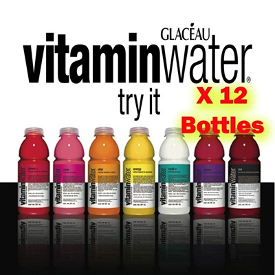 Glaceau Vitamin Water 500ml x 1 Carton ( Essential Multi-V Ignite Restore XXX Acai-Blueberry Pomegra