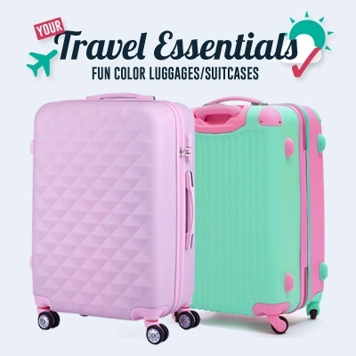 A12(IN STOCK SG)(mint) Diamond concept Suitcase/luggage/bag case Steady light weight