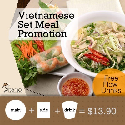 [Promotion]Vietnamese Set Meal Promotion at Hanoi Vietnamese Restaurant! Valid Daily!!Centrally Located.
