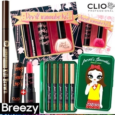 [CLIO]LUCKY 5DAYS! 最大70%OFF! 限定販売キット特価 [BREEZY]CLIO LIMITED KIT/Angel devil wannaabe kit/Club makeup kit/Peris smoothie pencil liner kit/20th Kill black meets virgin kit/