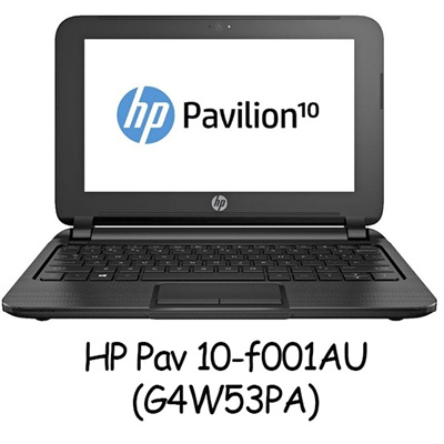 Netbook HP Pav 10-f001AU(G4W53PA)AMD Dual-Core A4-1200 APU (1 GHz 1MB Cache)