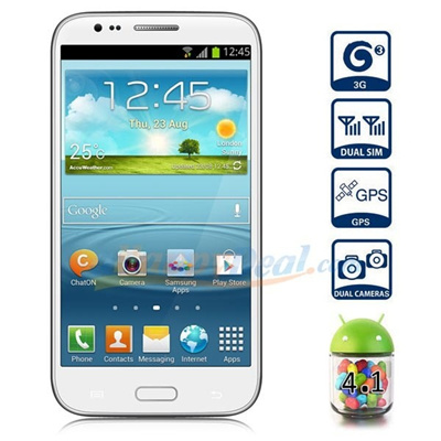 5.5inch Android Note2 512MB+4GB Dual sim standby 3G Smart Phone WIFI 3G GPS