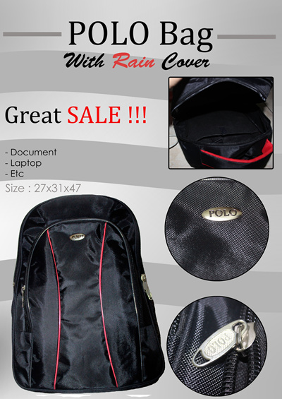 POLO Bag With Rain Cover[GREATSALE] VISIT TO OUR MINISHOP [LIMITED STOCK DISC.UP 50%[LAPTOP/DOCUMENT/DLL]