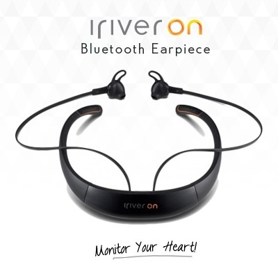 iriverON bluetooth earpiece that record your heartbeat