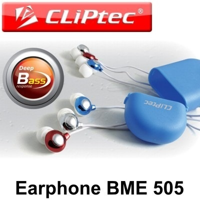 Earphone Bubble Deep Base Noise Isolating with carry case I Cliptec BME505