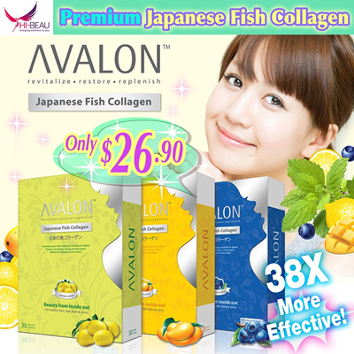 [UP $58.90] Proven Effective ❤ #1 Collagen in Japan ❤ AVALON™ Japanese Fish Collagen 3 Flavours with Antioxidants ❤ 100% Pure Premium Collagen ❤ Anti Aging