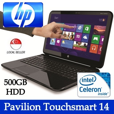 [HP](Refurbished)Pavilion Touchsmart 14 Celeron B877 1.4 GHz 4GB RAM Windows 8