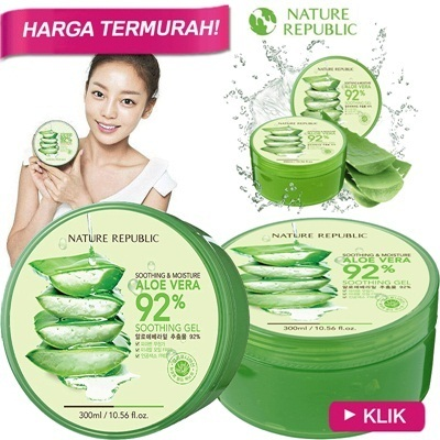 [NATURE REPUBLIC]-ID Aloe Vera 92% Soothing gel 300ml★Harga online terendah★