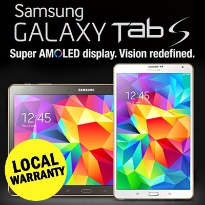 [SG WARRANTY] Samsung New Galaxy Tab S 8.4 T700 / T705 16GB WIFI / 4G LTE Tablet Smartphone