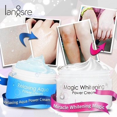 [Langsre] Magic Whitening Power Cream / Relaxing Aqua Power Cream