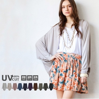best price 2014 new summer bat sleeve loose cardigan  chiffon shawl sun protection clothing free shipping