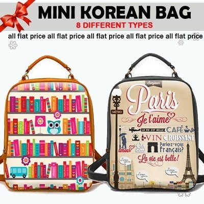 FLAT PRICE_KOREAN BAG_8 DIFFERENT STYLE_78% OFF
