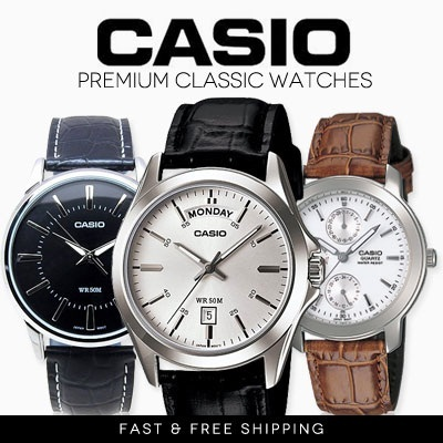 [Casio Watch] Hot selling Classic Premium Series Men Dress leather watch