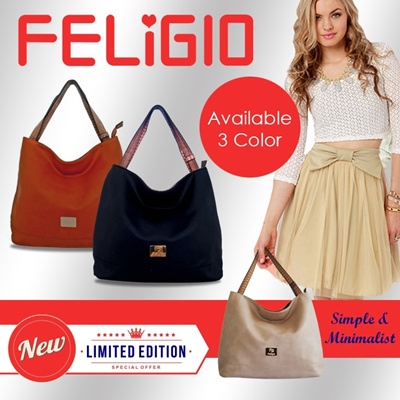 TAS FASHION [NEW] SIMPLY BAG from FELIGIO.. FREE SHIPPING JABODETABEK !!