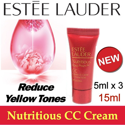 LAUNCHED IN MAY 2014 NEWEST!! Estee Lauder Nutritious Rosy Prism CC Cream 5mlx3