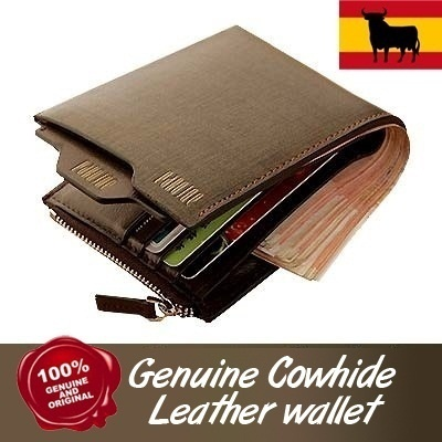 July 28 29.9! Top Quality Genuine Leather Mens wallets /bag/bags/100% waterproof/luggage/wallet